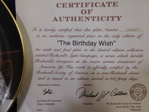 Norman Rockwell The Birthday Wish Rockwell's Light Campaign