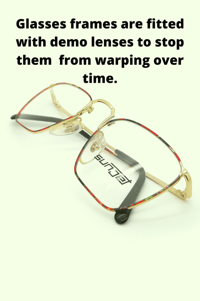 Demo lenses in glasses prevent warping