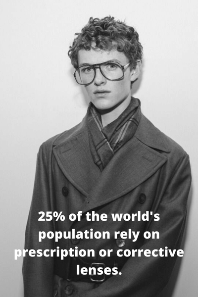 25% of the worlds population need some type of glasses to correct their vision.