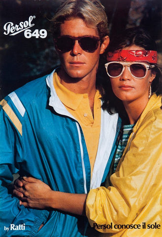 Retro advert for the Persol 649 vintage sunglasses