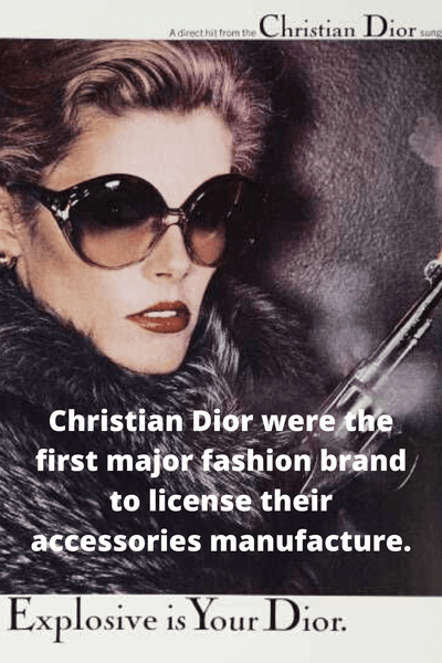 Dior the first to make designer sunglasses