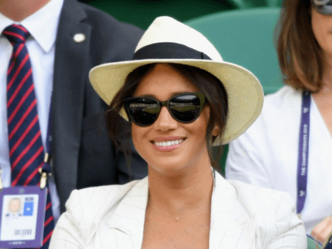 Meghan Markle in polarised sunglasses at Wimbledon