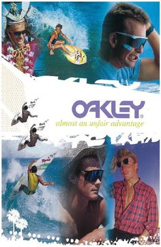 Oakley advert from the 1980s
