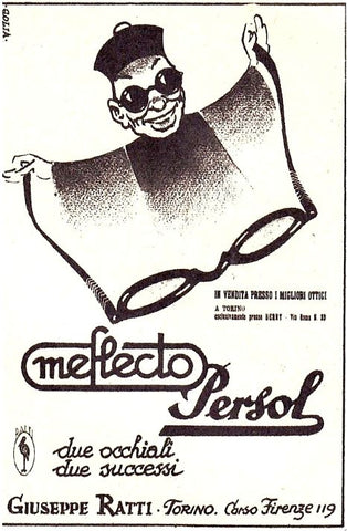 Image of Old Persol Advert Featuring Meflecto and the little chinese
