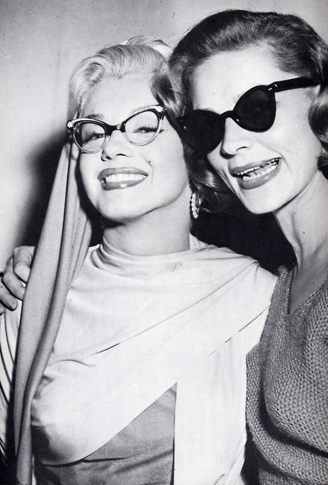 Marilyn and Lauren Bacall In Cat Eye Frames