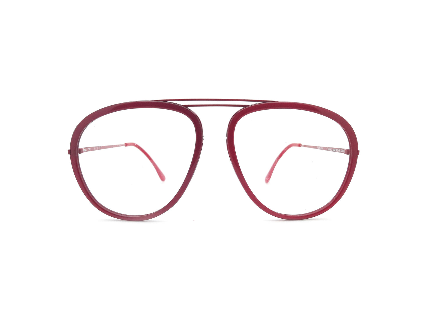 6418614a49 Anglo American Optical Rolling P Red Vintage Aviator Glasses Frame ...