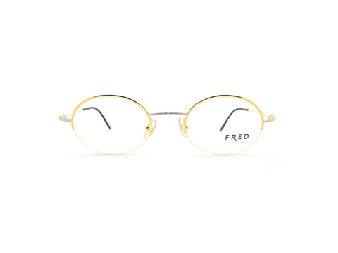 Vintage Fred Force 10 Glasses Frames Platinum and Gold