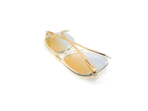 Haute Couture 1247 9 Vintage Clear Aviator Sunglasses