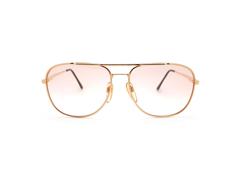 Vintage Gold Aviator Sunglasses 1980s // Haute Couture 8307 1