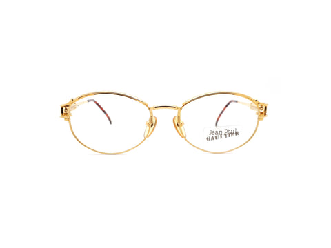 Vintage Jean Paul Gaultier 55 5109 Glasses Frames 22KT Gold Plated