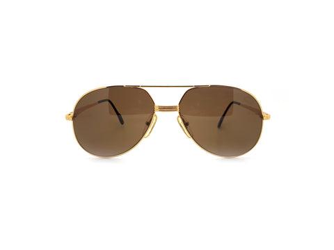 Vintage Gold Tiffany Aviator Sunglasses T369