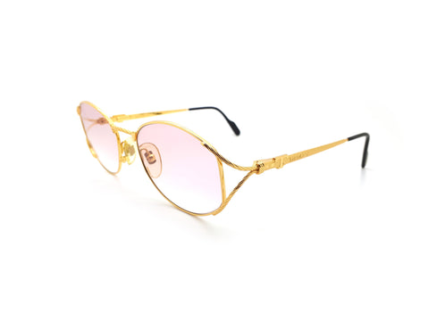 Vintage Tiffany Lunettes T410 C4 23CT Gold Plated Sunglasses