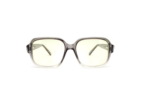 Monsieur 100F Grey-2-Tone Vintage Square 90s Sunglasses