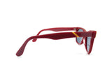 Red Sunglasses with Yellow Brow 7700