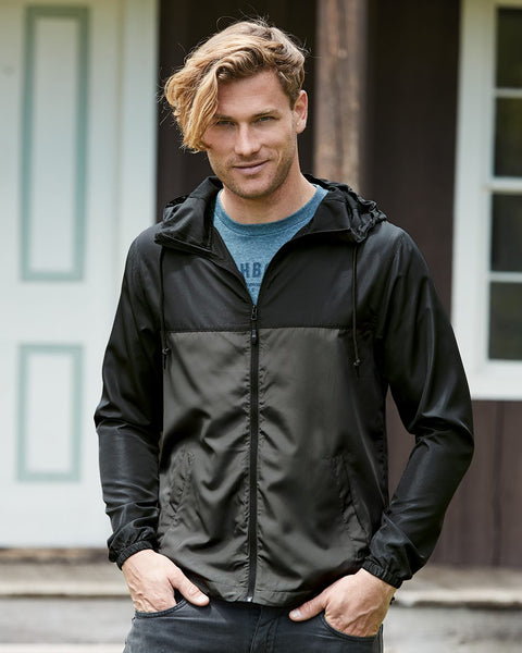 Windbreaker Lightweight Zip Jacket | Black/Graphite