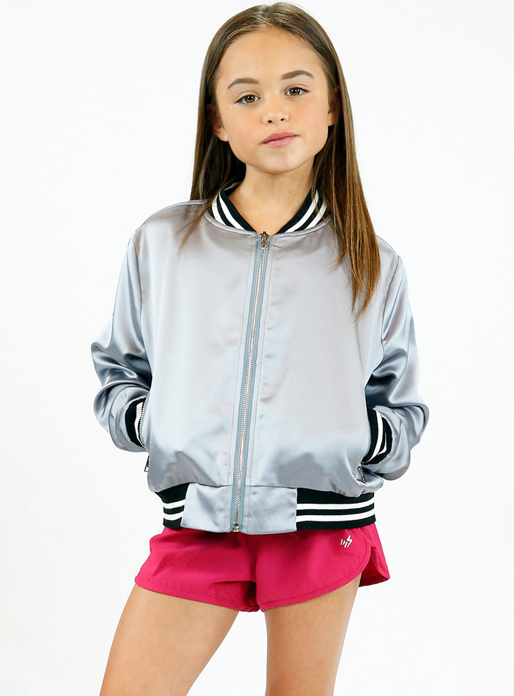 Satin Team Bomber Jacket