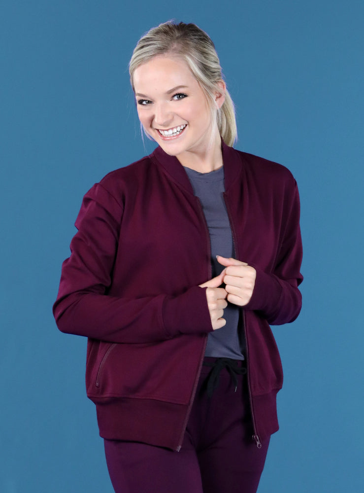 Flight Jacket | Plum