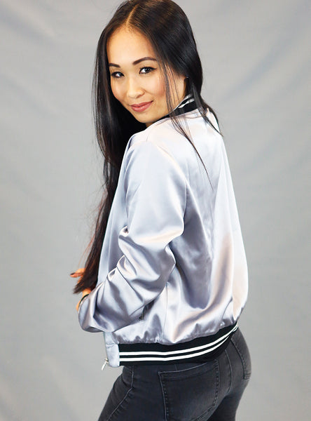Satin Bomber Team Jacket