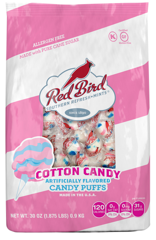 Red Bird Cotton Candy Puff 30 oz. Bags (6 count)