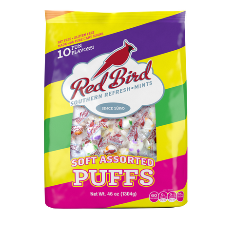 Red Bird Assorted Soft Candy Puffs 46 oz. Bags (6 count)