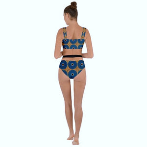 Savana bleu bikini Bottom - The Frenchcouture