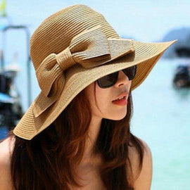 Chic Weaving Bowknot Embellished Sun Hat For Women