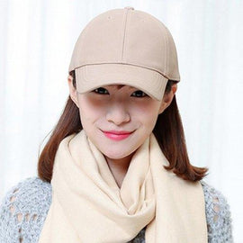 Chic Solid Color Baseball Cap For Women