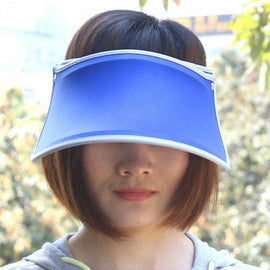 Chic Solid Color Open Top Visor For Women