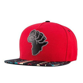 Trendy African Map Shape Embroidery Coconut Tree Pattern Brim Baseball Cap