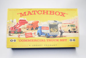 Matchbox Regular wheels G-6 Commercial Truck Set Virtually Mint/Boxed (Turquoise 30c).