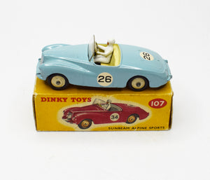 Dinky Toys 107 Sunbeam Alpine Sports Very Near Mint/Boxed