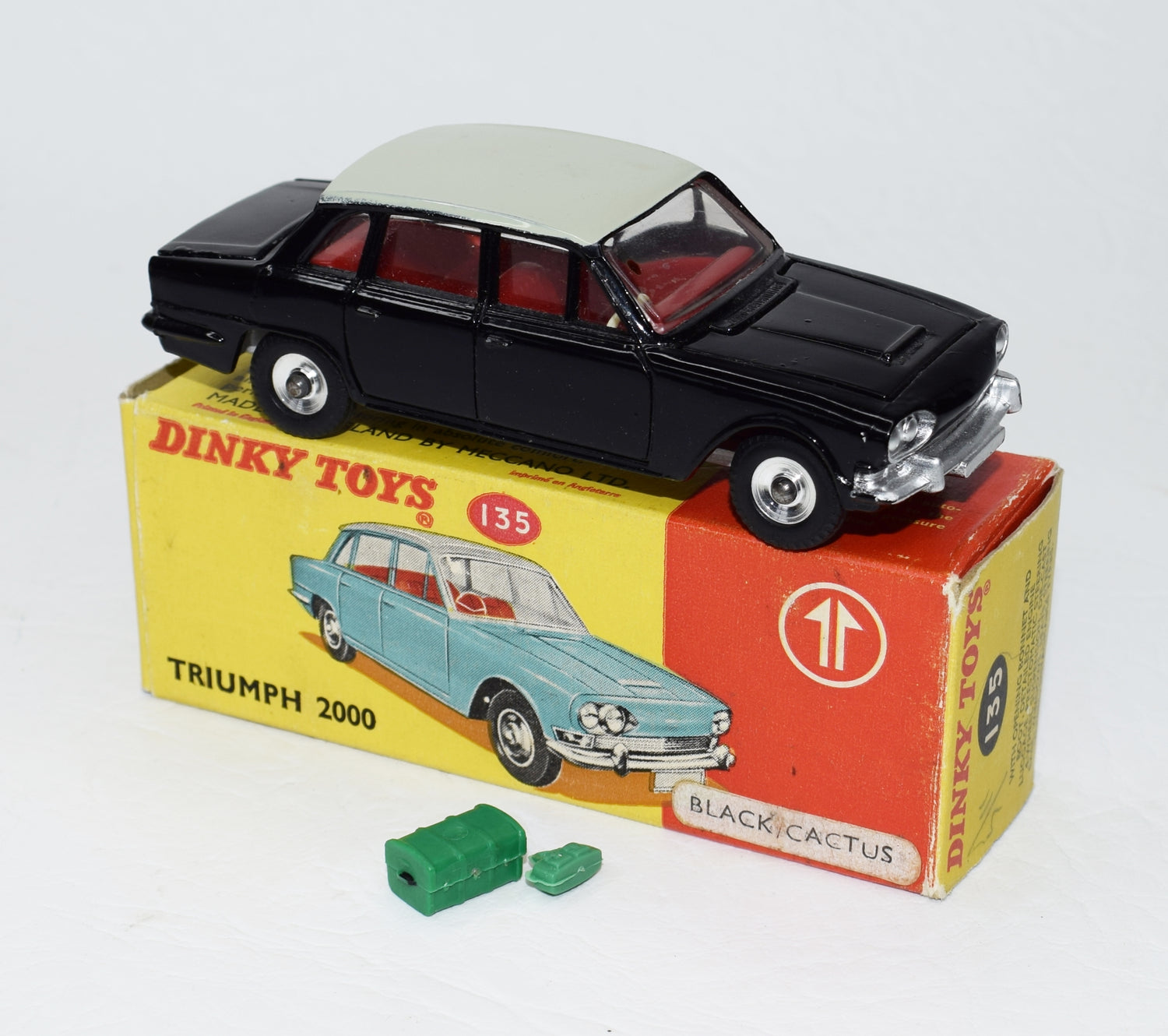 Dinky toys 135 Triumph 2000 Promotional Virtually Mint/Boxed (Black&Cactus).