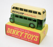 Dinky toys 290 Double deck bus 'Dunlop' Virtually Mint/Boxed.
