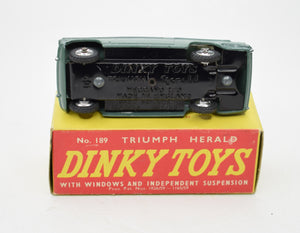 Dinky Toys 189 Triumph Herald 'Promotional' Virtually Mint/Boxed (Lichfield Green).