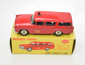 Dinky toys 257 Fire chiefs car Virtually Mint/Boxed