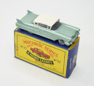 Matchbox Lesney 27 Cadillac (Old Shop Stock from Ripon North Yorkshire)