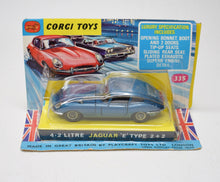 Corgi toys 335 4.2 E type (Old Shop Stock from Ripon North Yorkshire)
