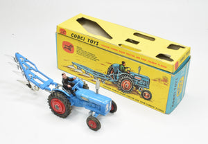 Corgi Toys Gift Set 13 Fordson Power Major Tractor with Plough Very Near Mint/Boxed