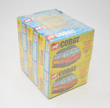 Corgi toys 508 Commer Camp Bus Trade wrap of 6 (Old Shop Stock from Ripon North Yorkshire).