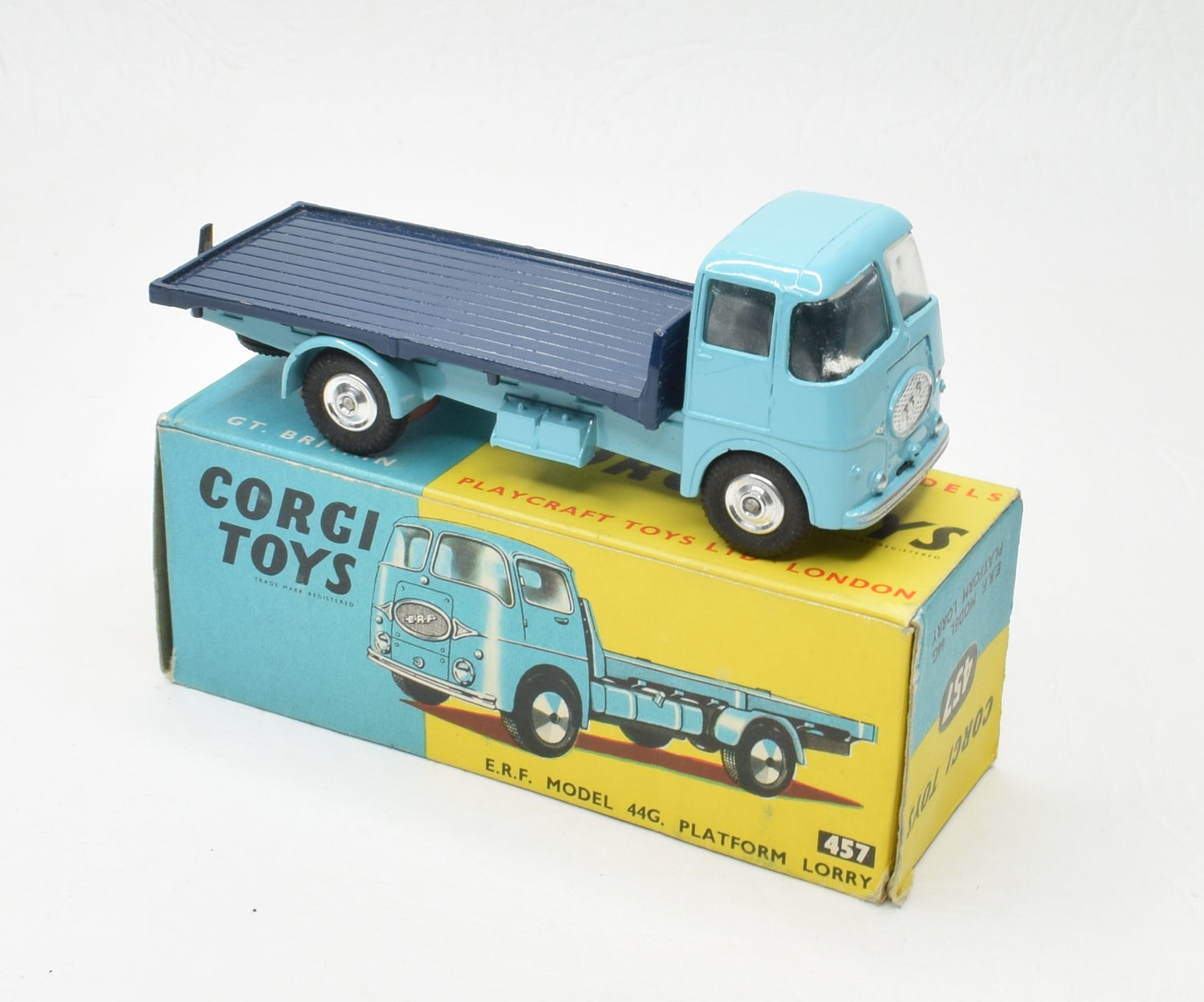 Corgi toys 457 E.R.F Platform Lorry Very Near Mint/Boxed 'P.C.R' Collection
