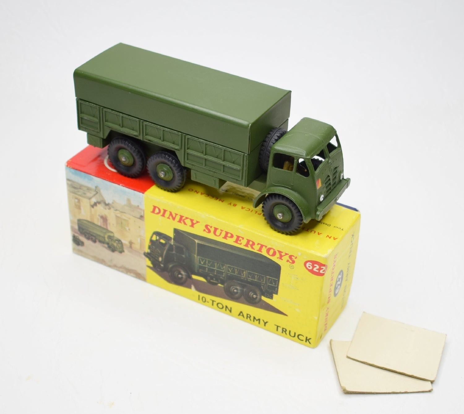 Dinky toys 622 10-ton Army Truck Virtually Mint/Boxed (Pictorial Box) C.T.C