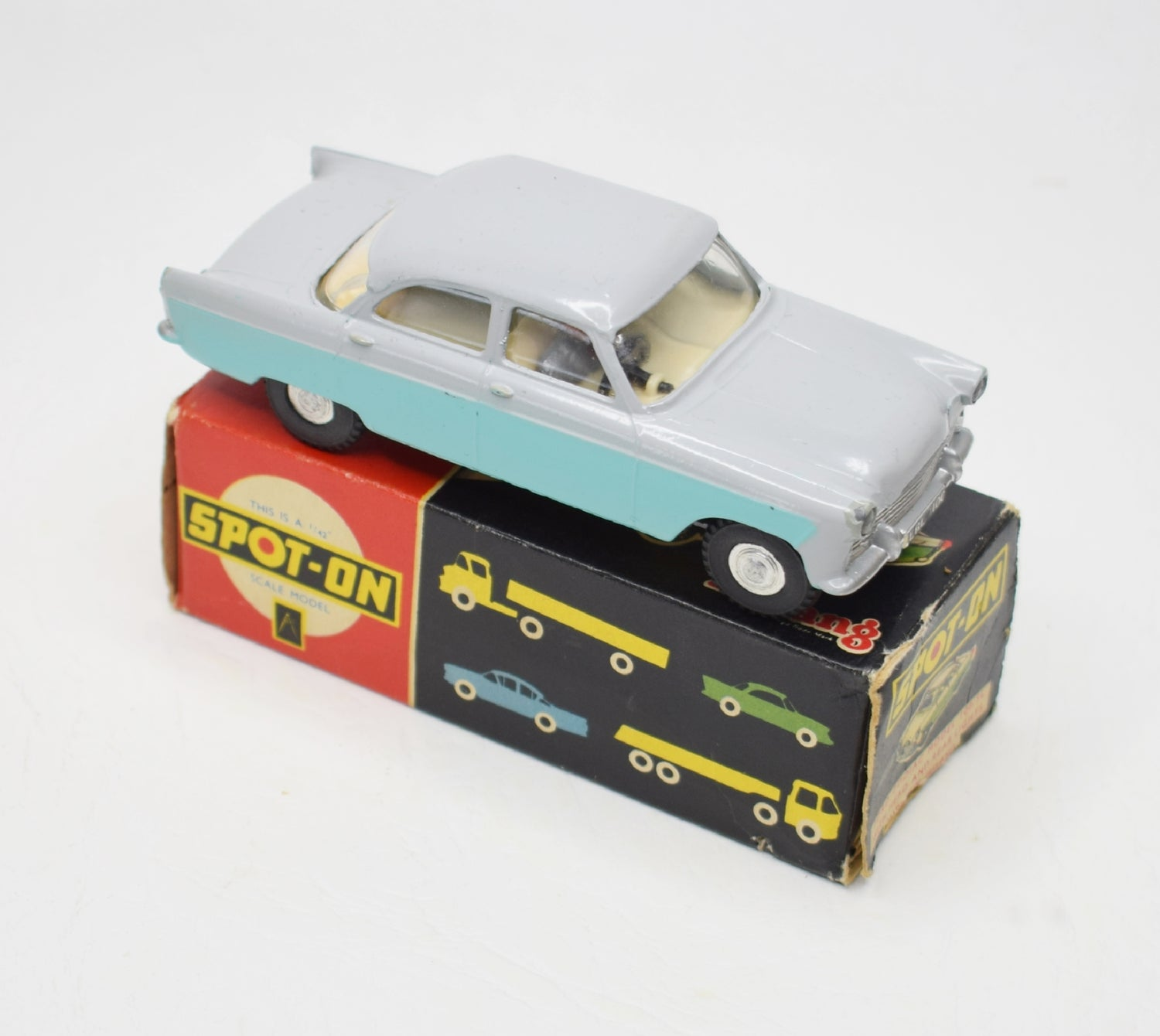 Spot-on 100sl Ford Zodiac Very Near Mint/Boxed (Pale grey/Light turquoise)