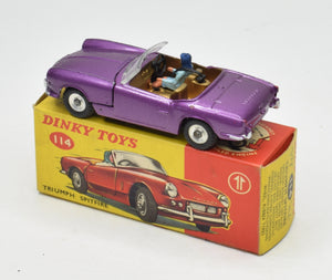 Dinky toy 114 Triumph Spitfire Virtually Mint/Boxed 'Brecon' Collection Part 2