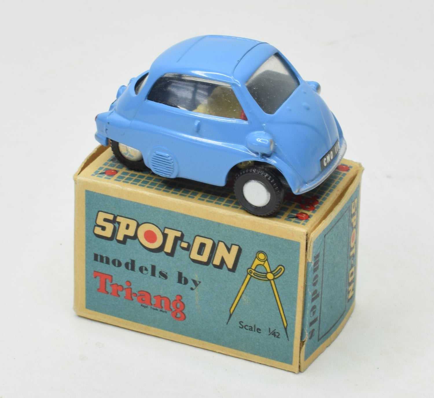 Spot-on 118 BMW Isetta Virtually Mint/Boxed (Mid blue & Dark grey baseplate)