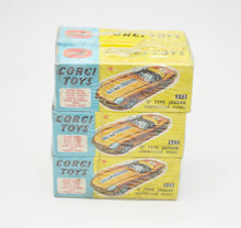 Corgi toys 312 Competition E-type Trade wrap of 6 (Old Shop Stock from Ripon North Yorkshire)