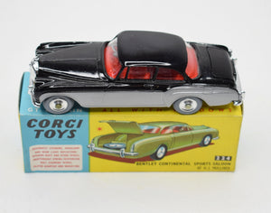Corgi toys 224 Bentley Continental Very Near Mint/Boxed (New The 'Geneva' Collection)