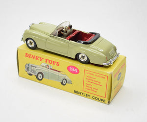 Dinky Toys 194 'South African' Bentley Coupe Very Near Mint/Boxed Reserved
