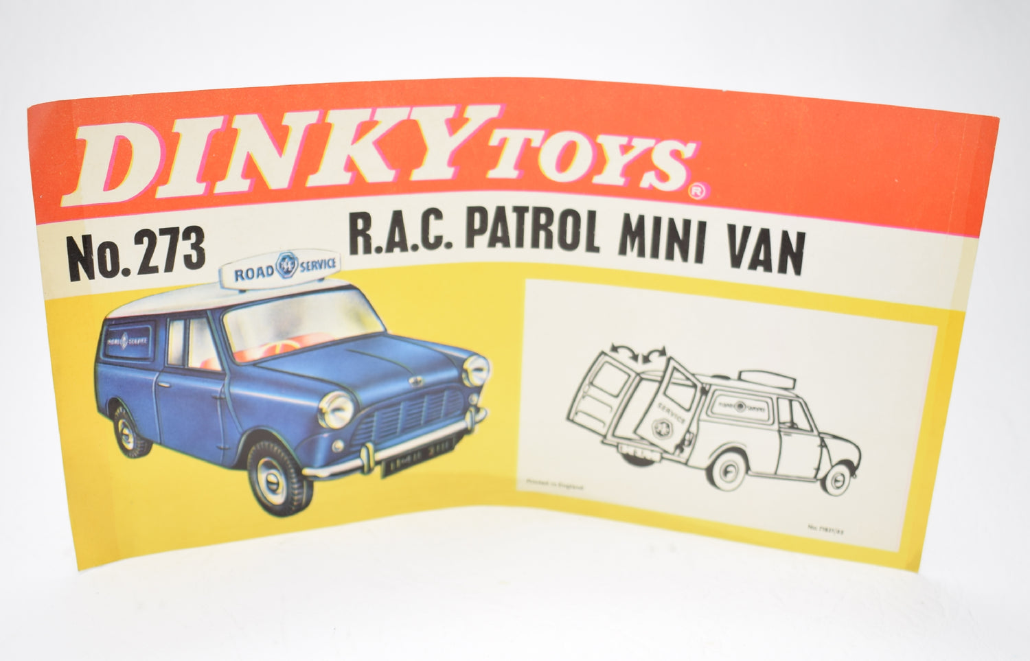Dinky 273 Promotioal shop display flyer/poster..