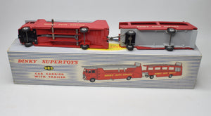 Dinky toys 983 Car Carrier with Trailer Very Near Mint/Boxed