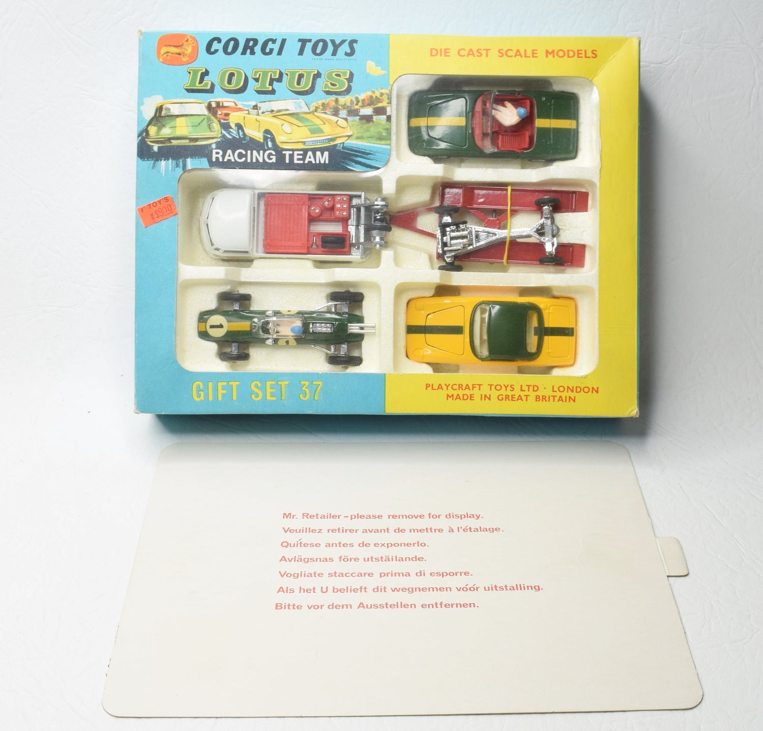 Corgi toys Gift set 37 Lotus Racing Team Virtually Mint/Boxed (New 'The Lane' Collection)